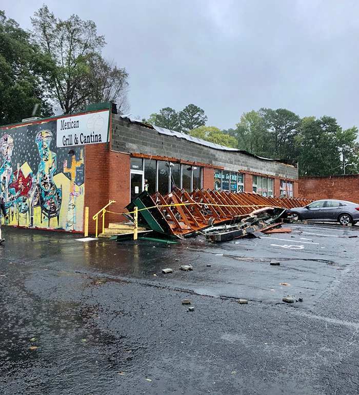 damage-at-three-amigos-from-hurrican-florence