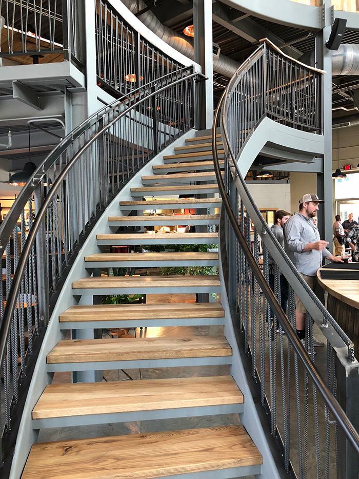staircase-at-legion-brewing-southpark