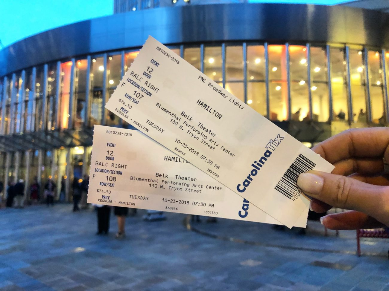 Win two tickets to see Hamilton in Charlotte on Tuesday, October 30