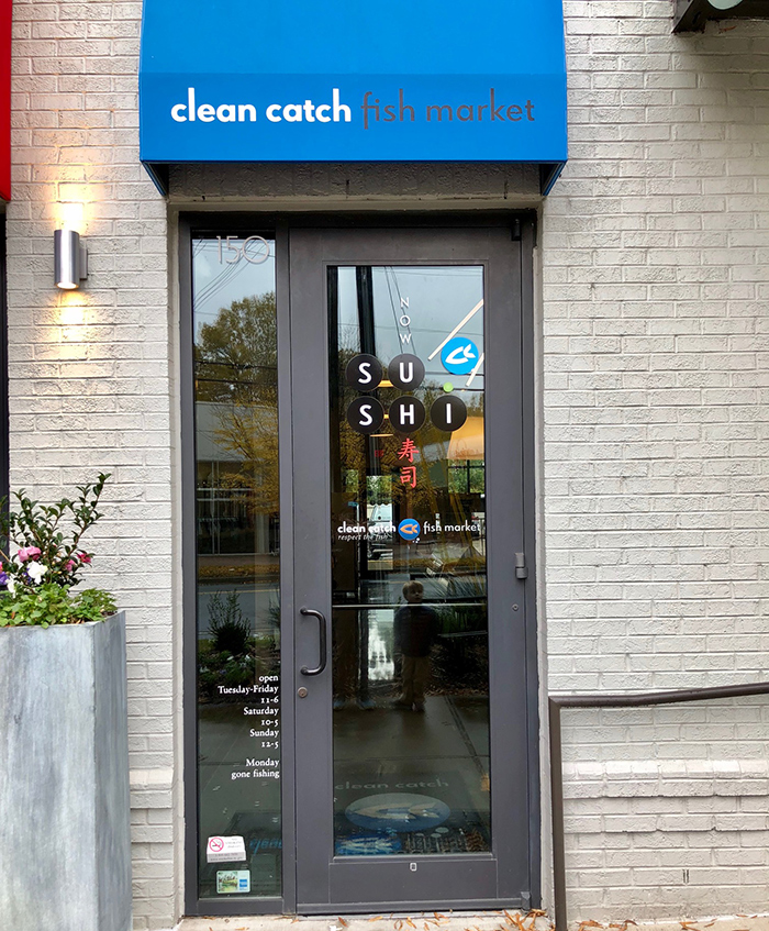 entrance-to-clean-catch-sushi-seafood-market-myers-park