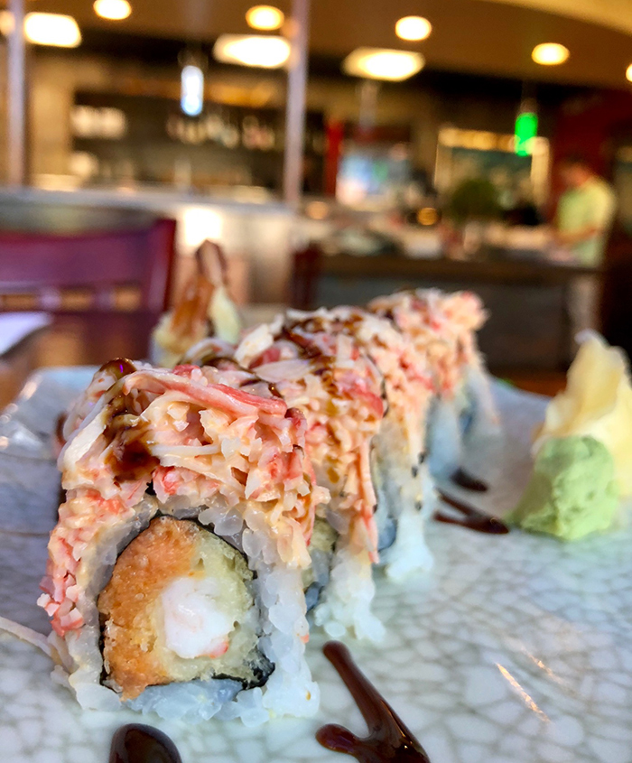 sushi-roll-at-umami-sushi-mathews-downtown