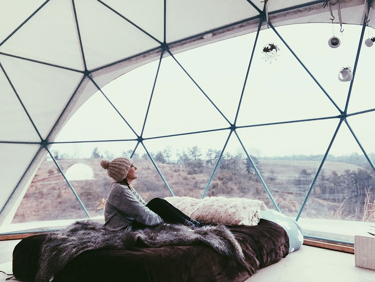 Sleep under the stars in a geodesic dome 2.5 hours from Charlotte