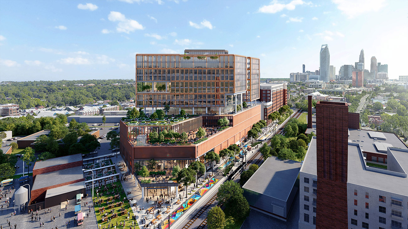View Renderings: 16 floor office building coming to South End next to Sycamore — and it'll have a food hall