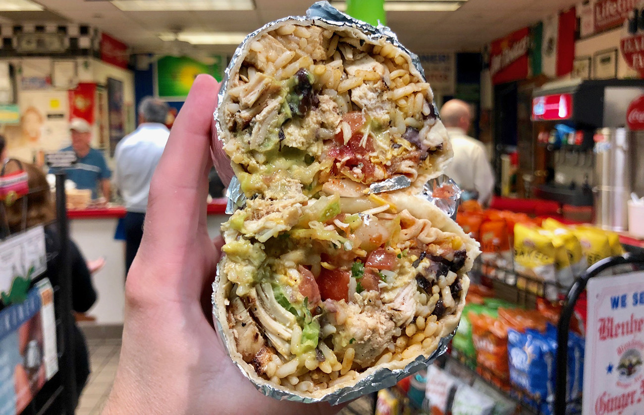 Updated: We scientifically weighed 12 different burritos – here's the #1 heaviest burrito in Charlotte