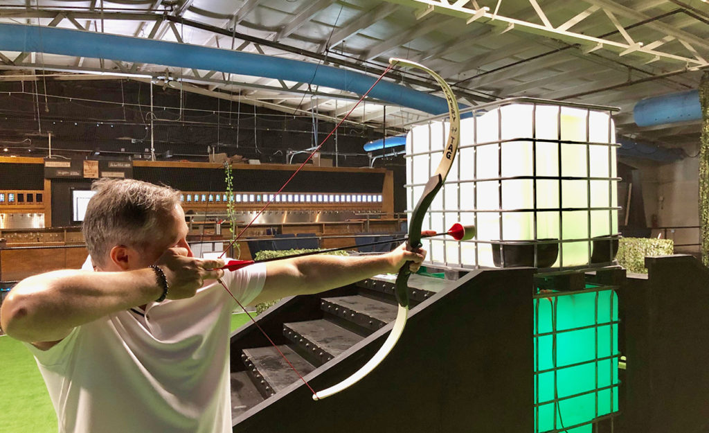 "Go inside: ""Action bar"" named Coliseum V now open near Bojangles' Coliseum — features archery tag and 22 virtual reality booths"