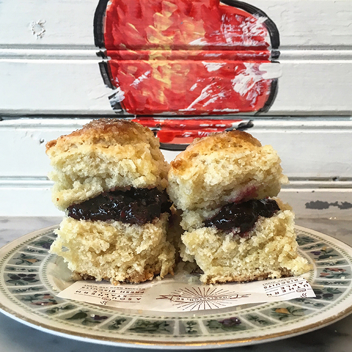 Blackberry Jam Biscuit at callie's hot biscuit south end