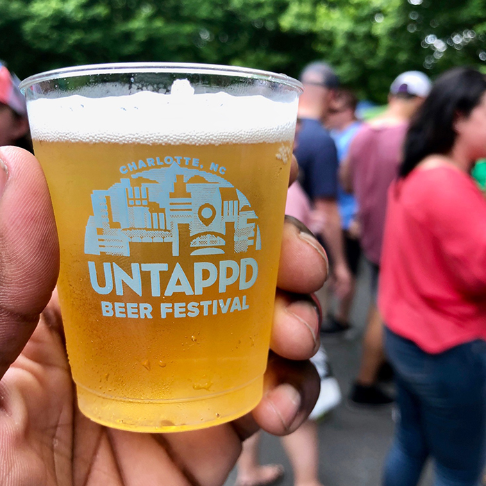 cup at untappd beer festival charlotte