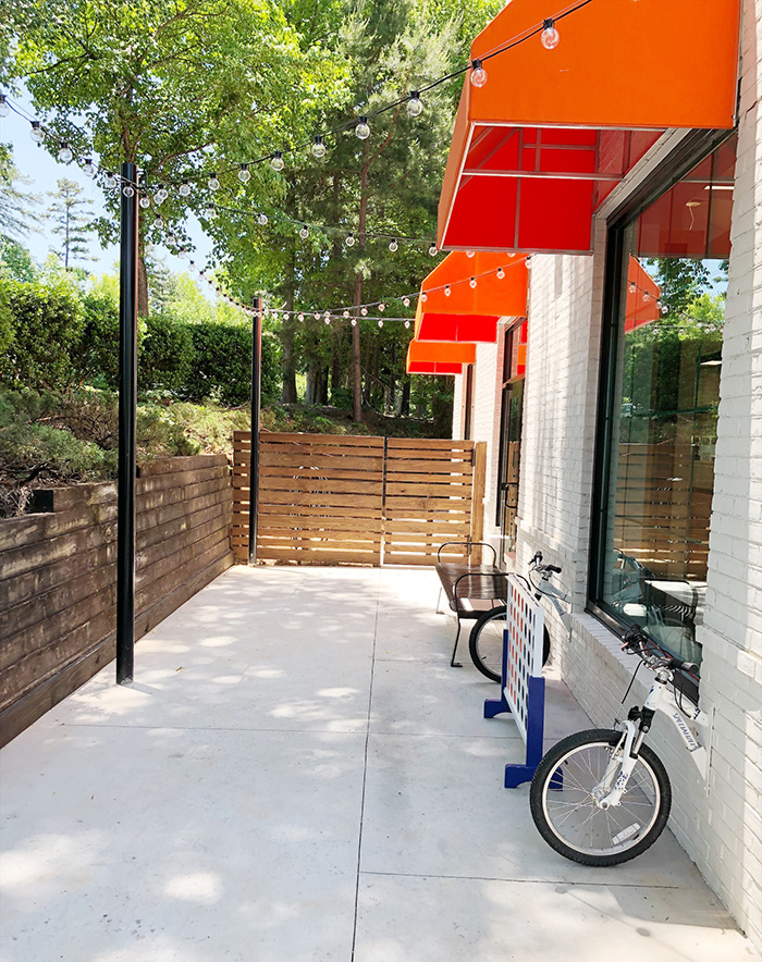 patio at velopops charlotte