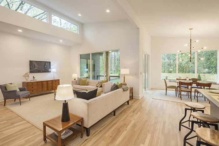 Home of the Year 2019 mid-century modern concept living area