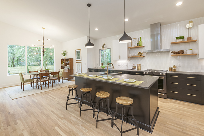 Home of the Year 2019 mid-century modern kitchen + dining area