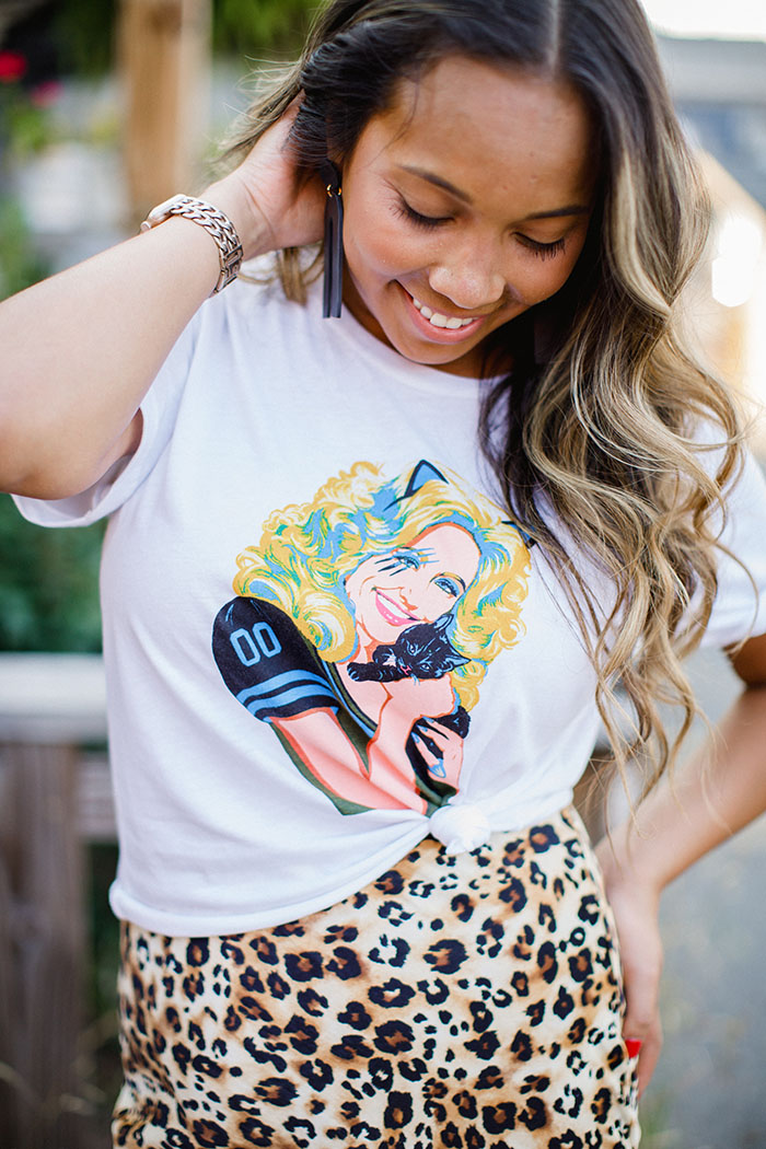 Girl Tribe game day Parton's Panthers Tee