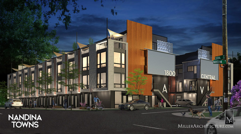 View renderings: 22 unique townhomes coming to Plaza Midwood — expect late 2020 completion