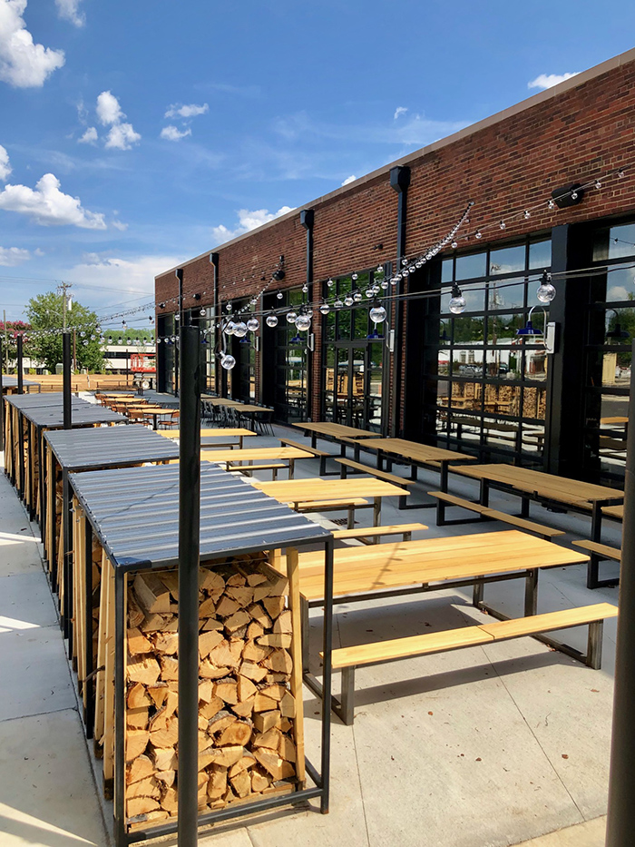 patio at noble smoke barbecue charlotte