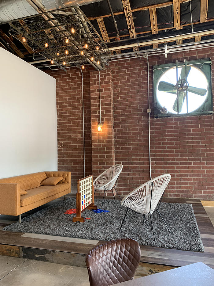 Stage at Free Will Craft & Vine, which is now open in NoDa