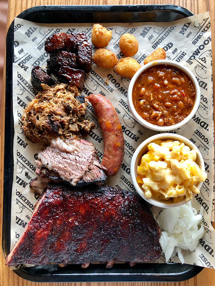 pig out barbecue tray at midwood smokehouse charlotte
