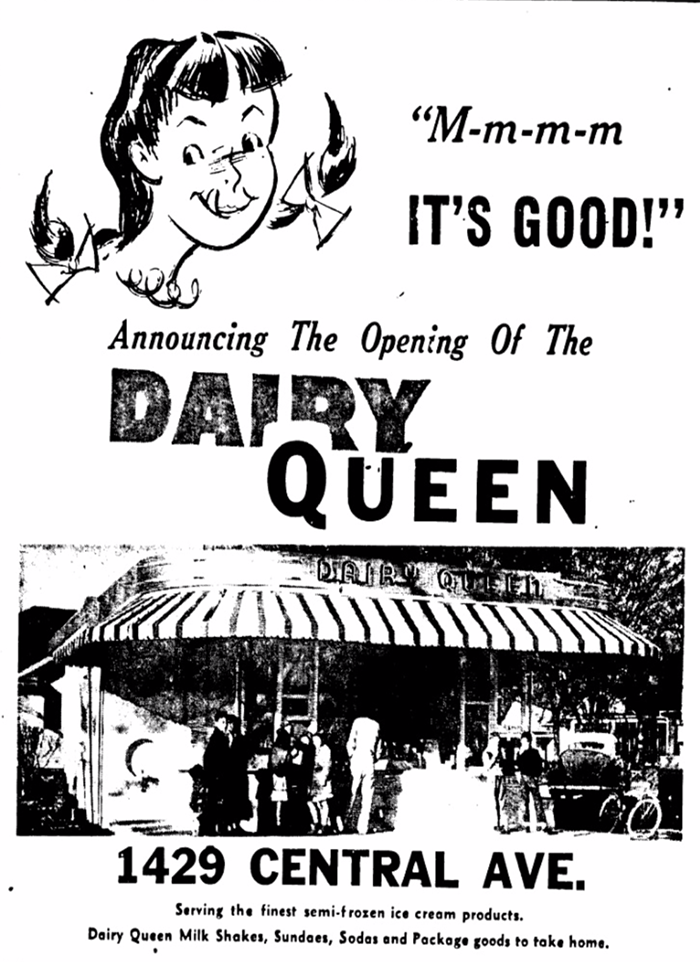 Charlotte Observer advertisement, March 1950