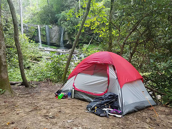 camping tent hikes in charlotte