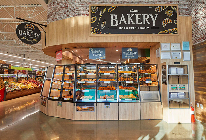 Lidl grocery store bakery