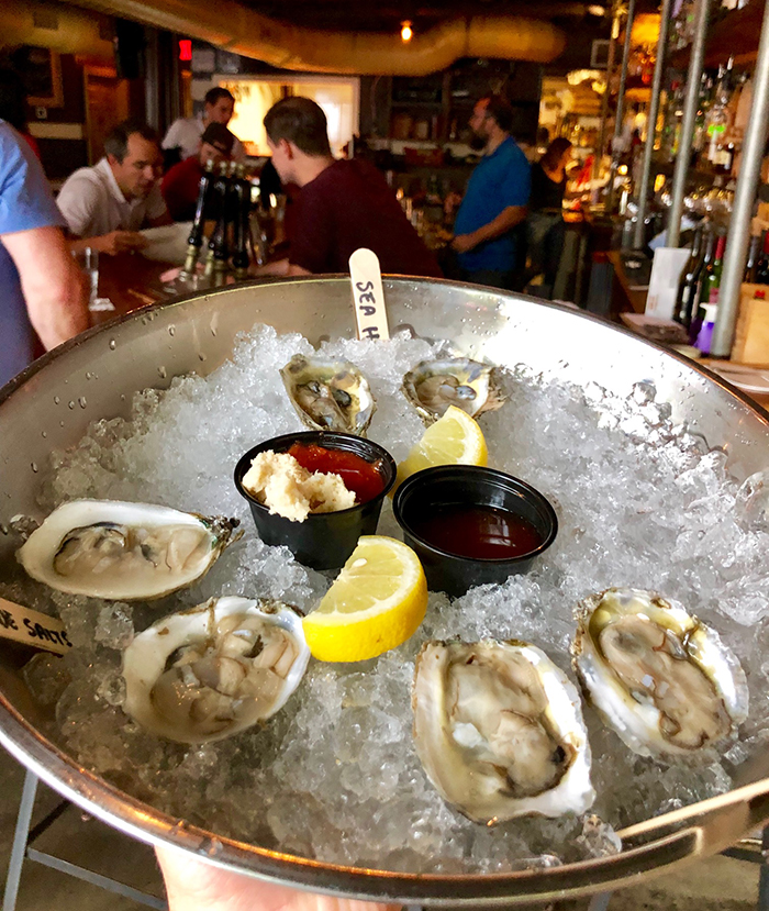 oysters at growlers pourhouse noda charlotte