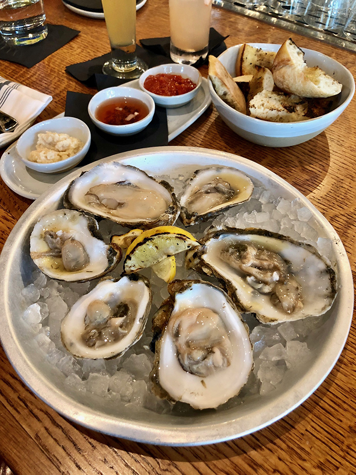 raw oysters at the crunkleton