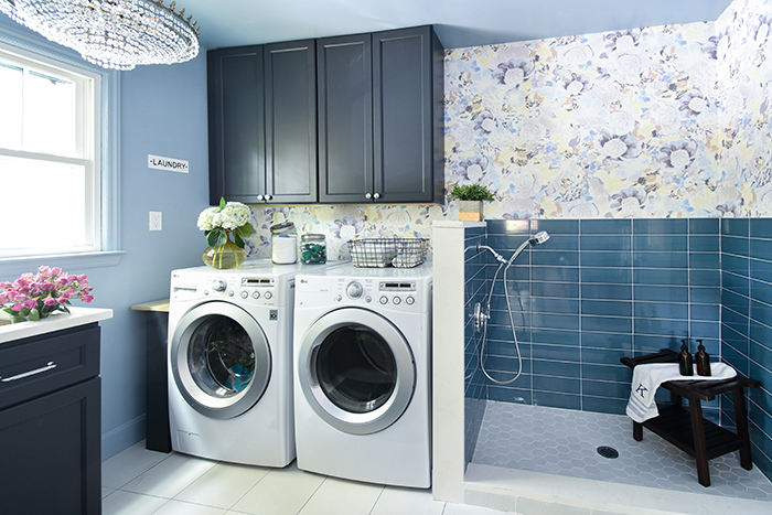 Mint Hill colonial remodel laundry room