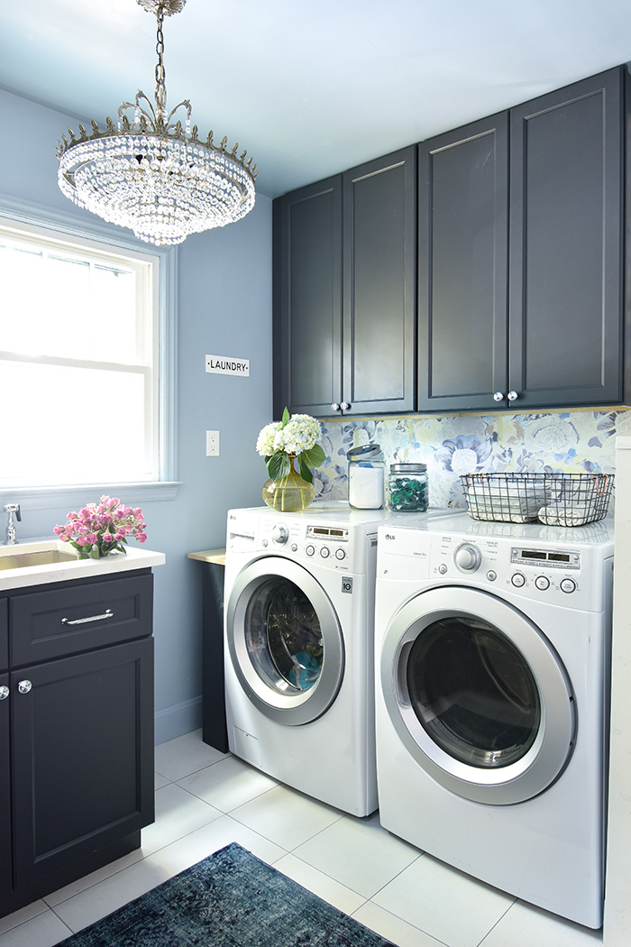 Mint Hill colonial remodel laundry