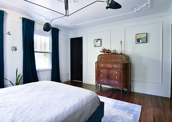 Mint Hill colonial remodel master bed