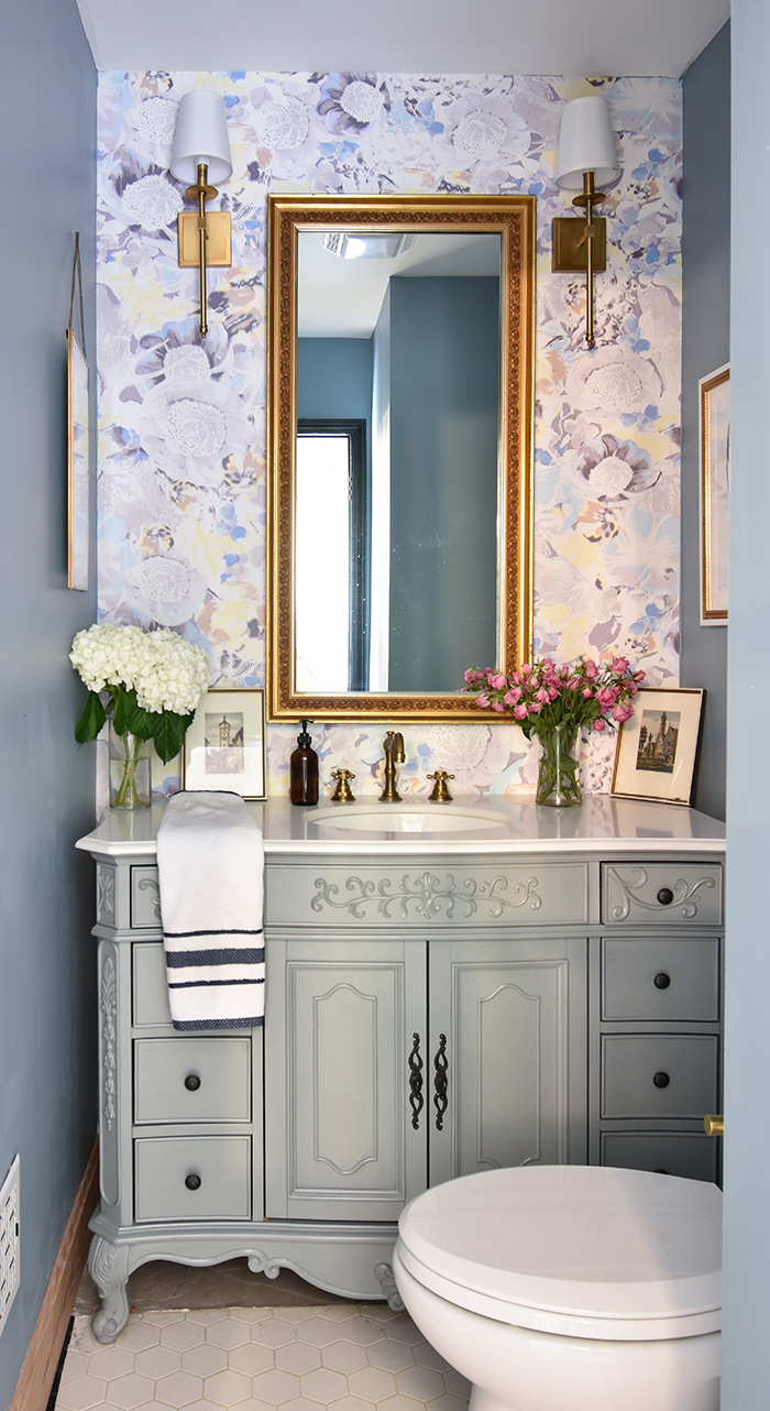 Mint Hill colonial remodel powder room