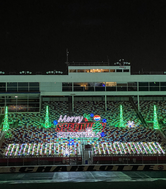 christmas lights on charlotte motor speedway