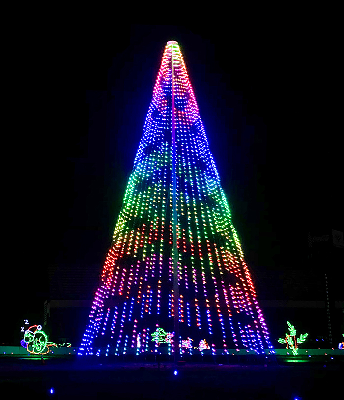 christmas tree at charlotte motor speedway