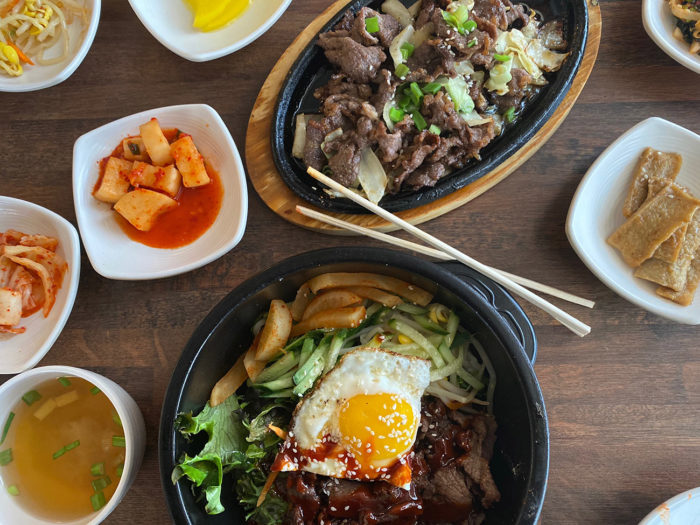 Spread from Choi's Korea and Wing on South Boulevard