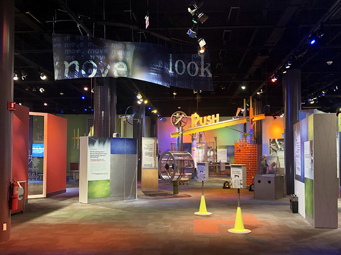 Discovery Place Science sleepover activity area