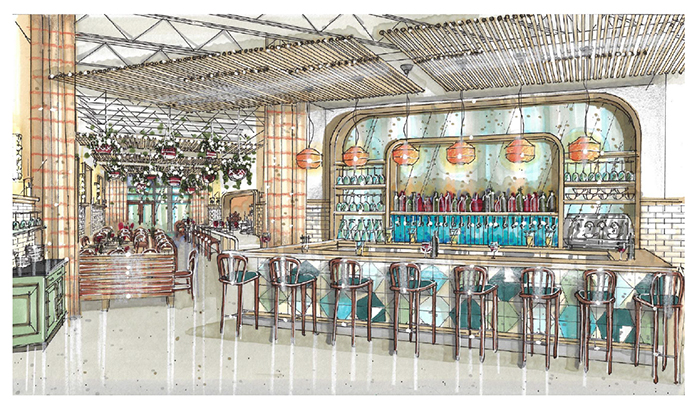 The Jimmy Interior Bar Rendering