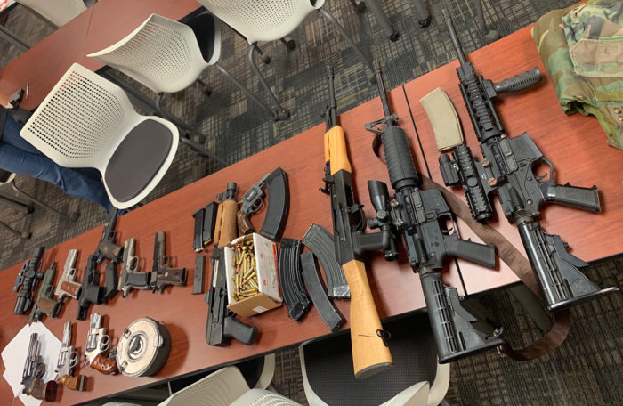 Guns seized by the Charlotte Mecklenburg Police Department