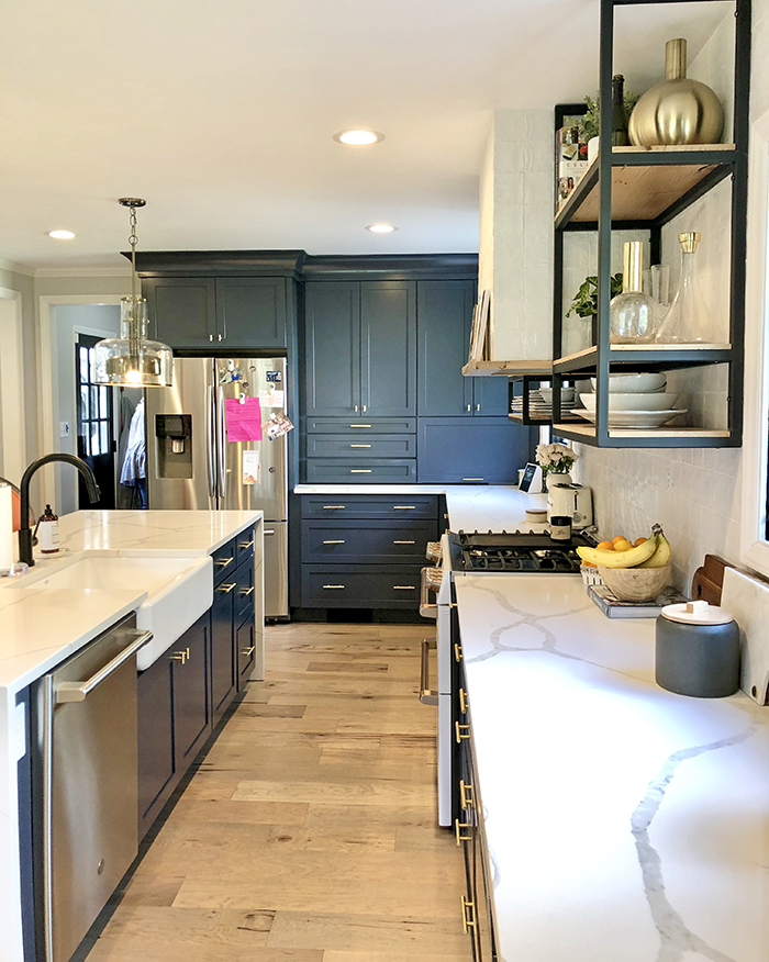 Madeline Hughes Home Tour kitchen cabinets