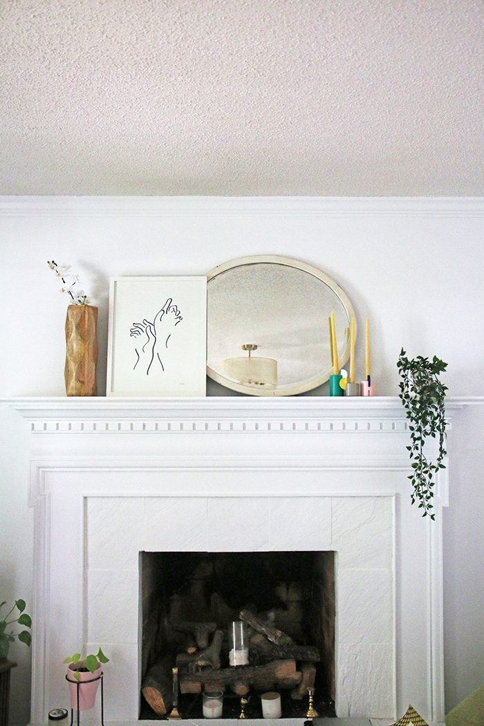 hullosam home tour fire place