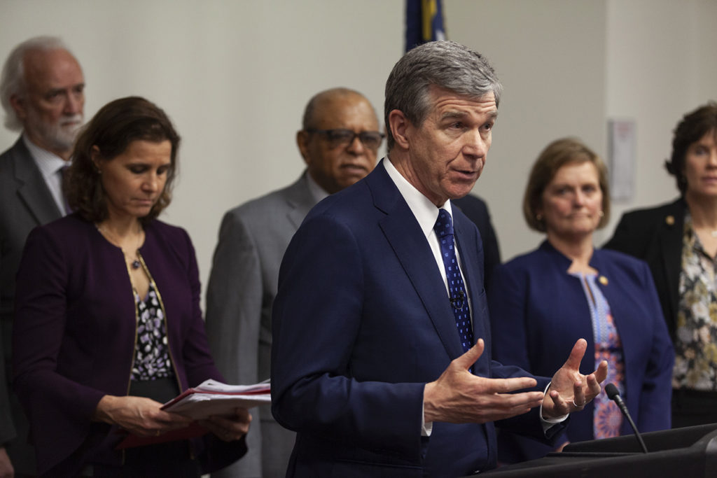 Who is suing North Carolina Governor Roy Cooper now?