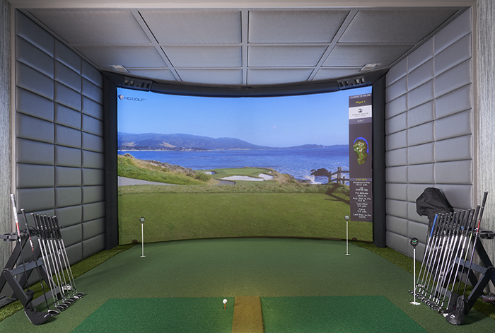 2020 Finalist- Lakefront Living golf simulator