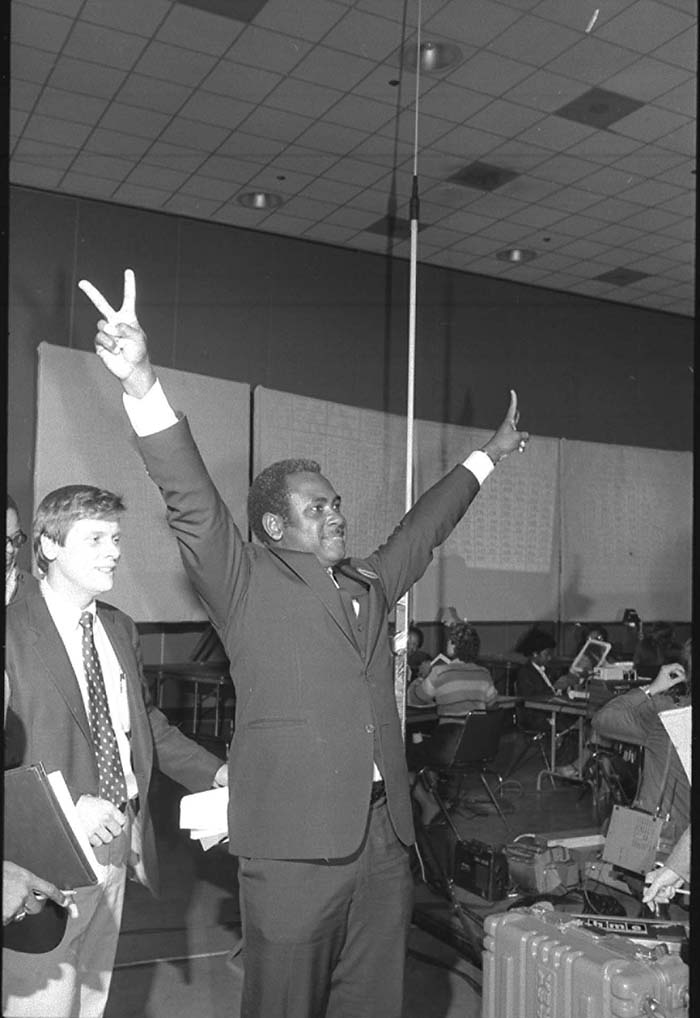 Harvey Gantt after becoming mayor