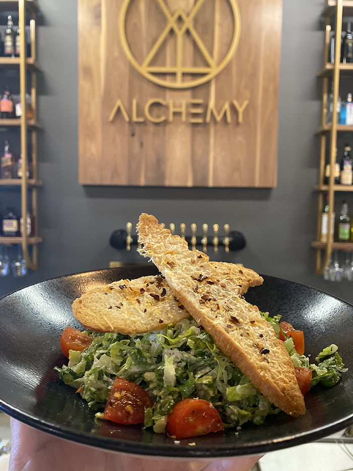 alchemy c3 lab restaurant caesar salad