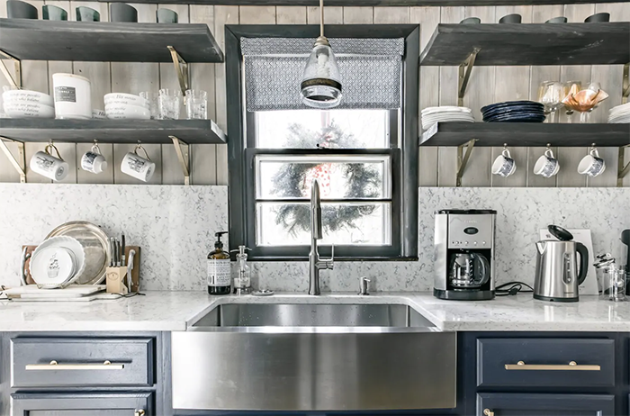 French-inspired cabin kitchen