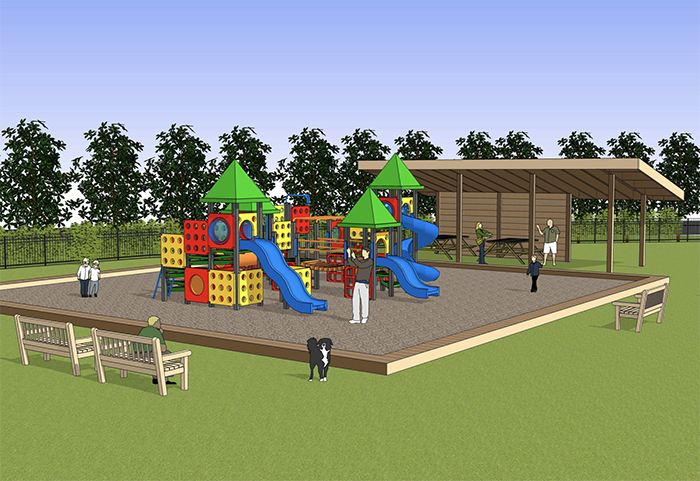 Rendering of the Heal Charlotte campus (LS3P)