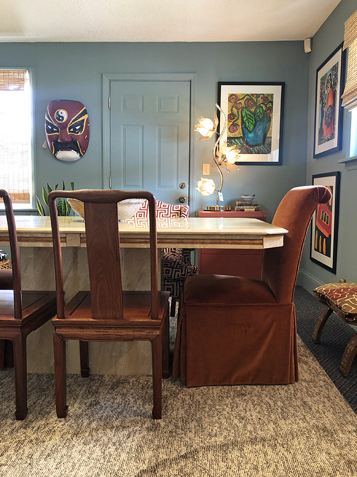 dressing room interiors dining table