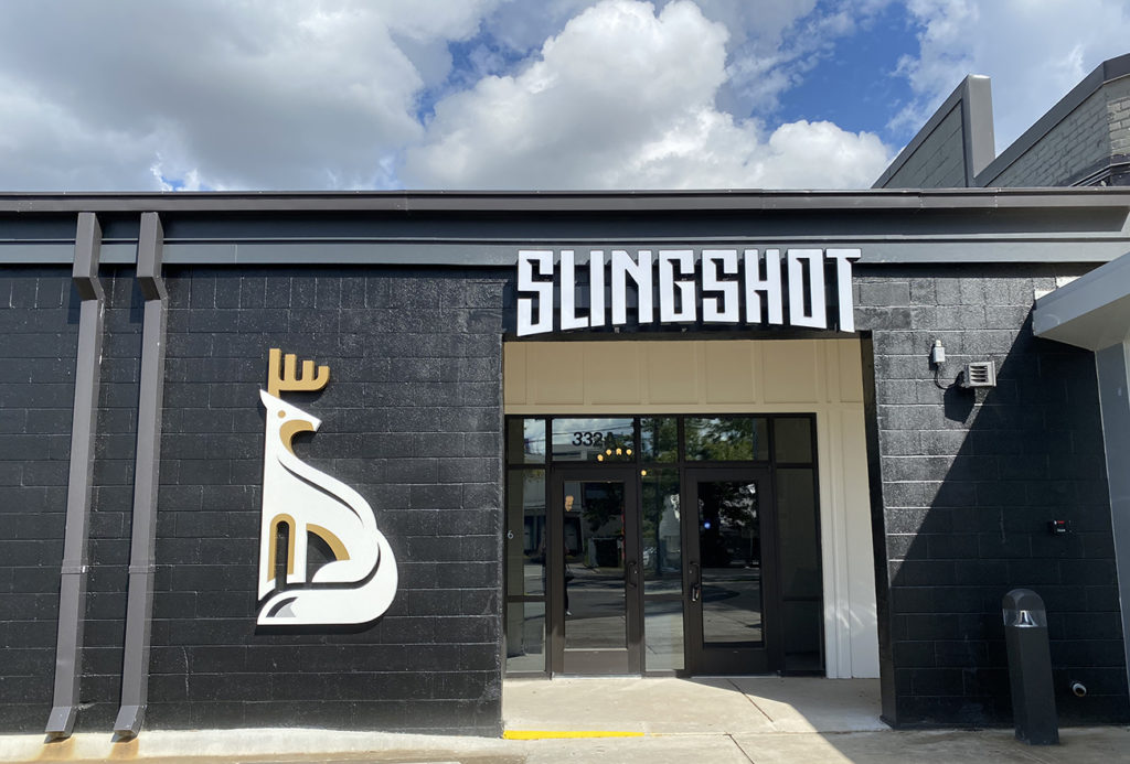 14,800-square-foot bar and 'social game club' called Slingshot is now open in South End