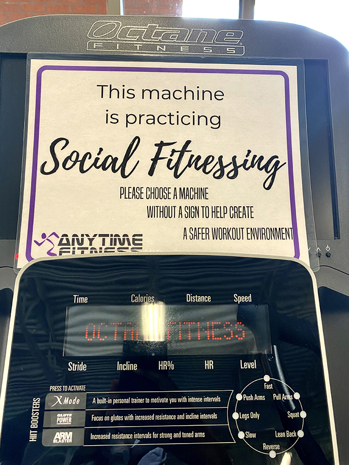 Anytime Fitness machine