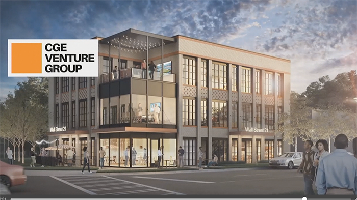 rendering of CGE's project at Booker and Beatties Ford