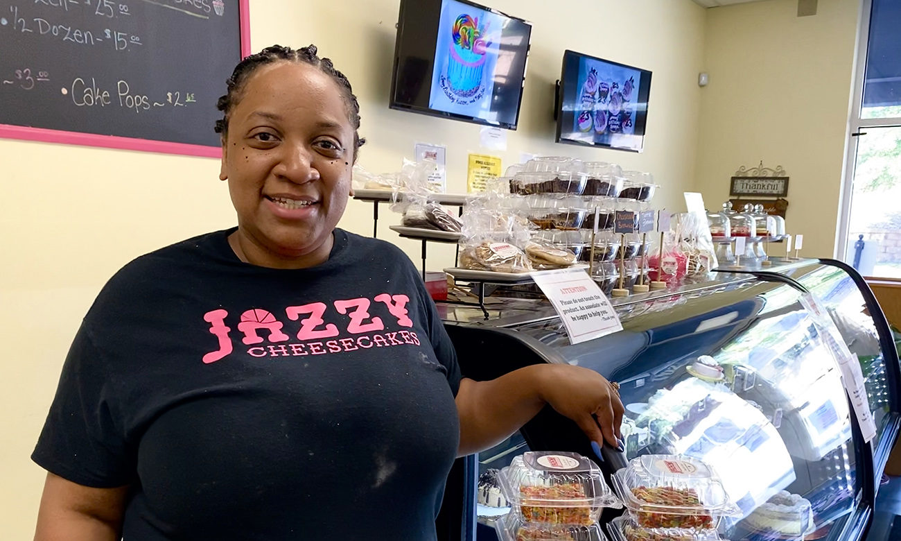 Specialty bakery Jazzy Cheesecakes serves cheesecake in every flavor and form (even inside apples)