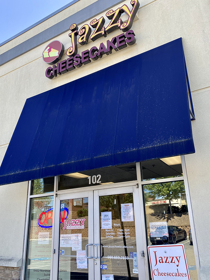 Jazzy Cheesecakes storefront