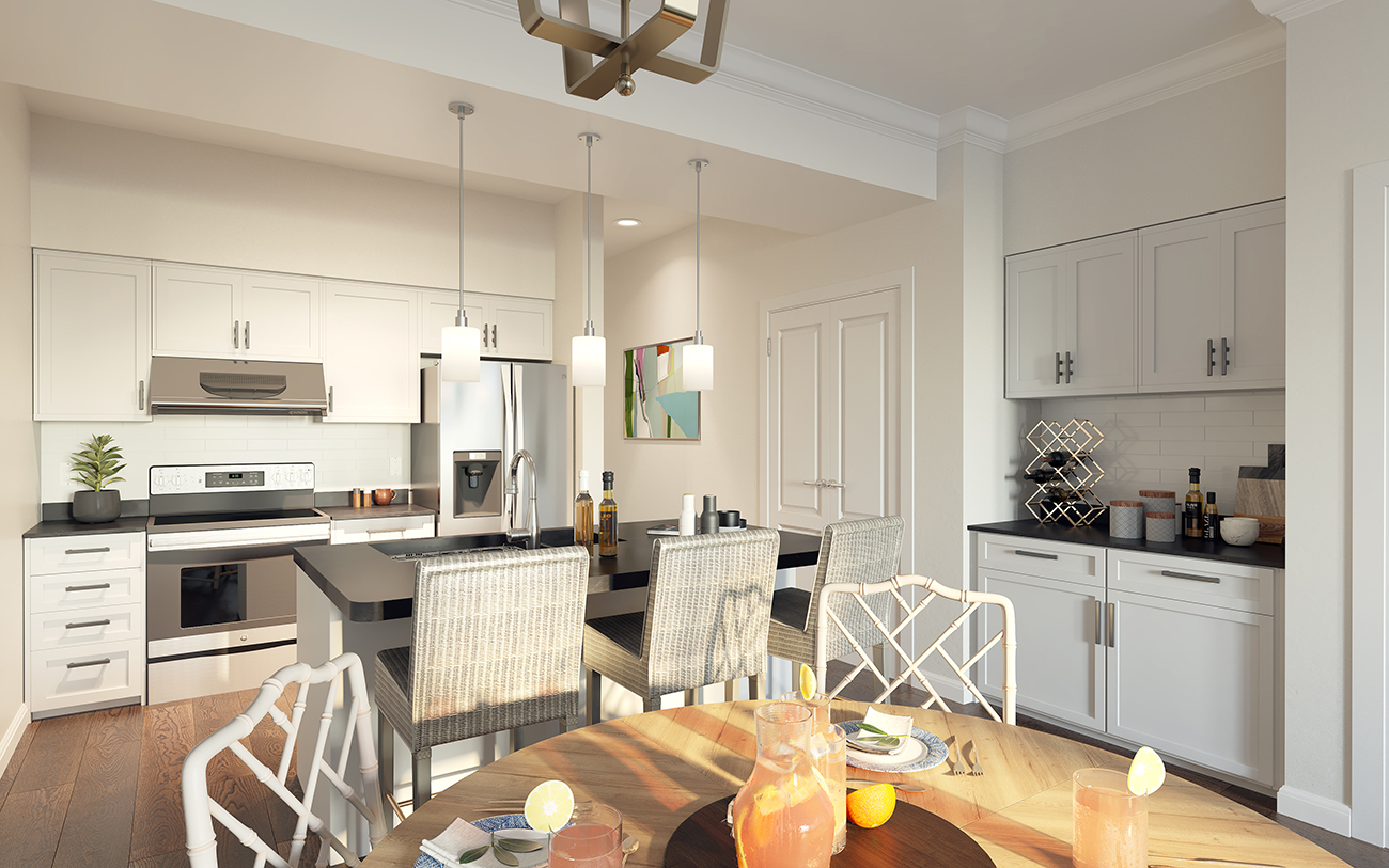 New lakefront apartments with boat club membership now leasing. Rent starts at $1,310 a month