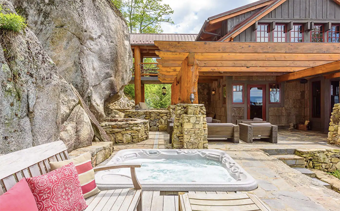 The Rock hot tub
